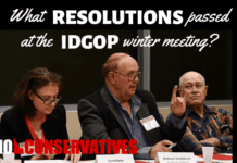 Members of the Standing Resolutions Committee, 2019