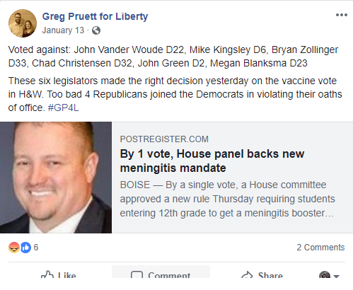 Greg Pruett for Liberty
